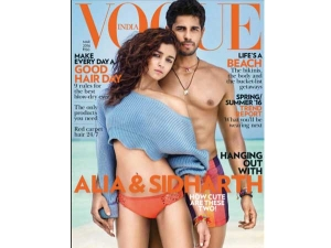 Vogue March 2016 Alia Bhatt Sidharth Malhotra Hot Photoshoot