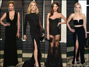 Top Black Dresses Look From Oscar Party