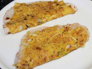 Vegetarian Egg Paratha Recipe