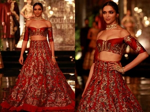 Deepika Padukone For Manish Malhotra Collection At India Couture Week