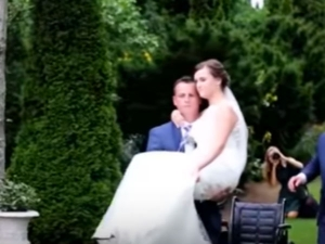 Groom Who Carried His Bride Down The Aisle After Her Car Accident