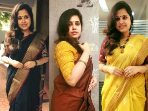 Tv Anchor S 100 Days Saree Going Viral On Social Media