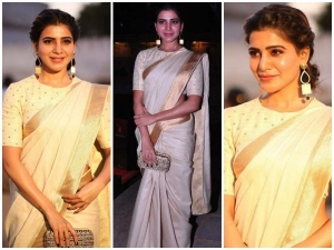 Samantha Prabhu In Shilpa Reddy Saree