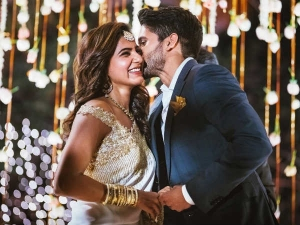 Gorgeous Samantha Smart Naga Chaitanya Engagement Fashion
