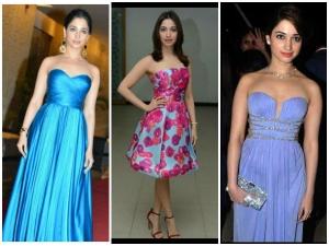 Tamanna Bhatia S Strapless Dress Looks