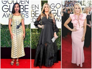 Worst Dressed Celebrities Golden Globe Awards 2017