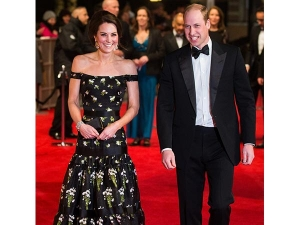 Kate Middleton In Alexander Mcqueen At Bafta Awards 2017