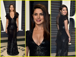 Priyanka Chopra In Michael Kors At Vanity Fair Oscar Party
