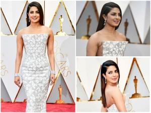 Priyanka Chopra Dresses In White For Oscars 2017