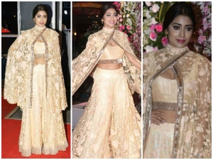 Shriya Saran At Neil Nitin Mukesh Rukmini Wedding Reception
