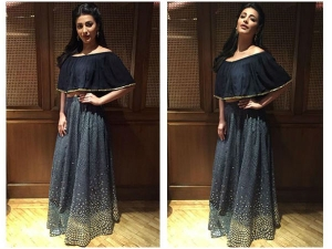 Shruti Hasaan Keeps It Cool In A Riddhi Mehra Lehenga