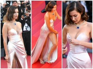 Cannes 2017 Bella Hadid S Wardrobe Malfunction Is Jaw Droppingly Schocking