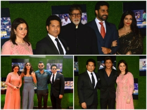 Celebrities At The Sachin Billions Dreams Movie Premiere Function