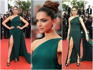 Cannes 2017 Deepika Padukone Shows Off Her Sexy Legs In A Thigh High Slit On Day