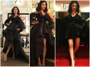Shruti Haasan Kills At Cannes In All Black