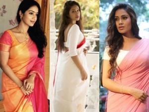 Nivetha Pethuraj Saree Looks