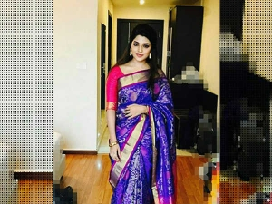 Meesaya Murukku Actress Athmika Saree Looks