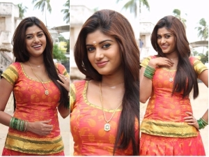 Bigg Boss Princess Oviya Silk Skirt Fashion Photos