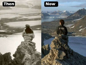 These Then Now Pictures Unveil The Impact Climate Change On Glaciers In 100 Years
