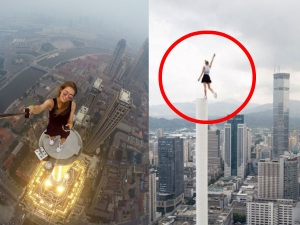 Brave Russian Girl Who Takes Pics From World S Highest Points