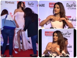 Nidhhi Agerwal Faced An Oops Moment At The Filmfare Awards