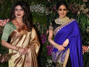 Celebrities Who Wore Saree At Virat Anushka S Mumbai Wedding Reception