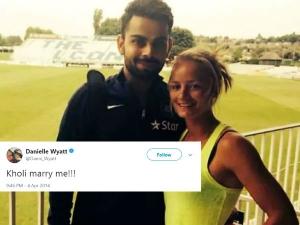 England Cricketer Danielle Wyatt Oneside Love On Virat Kohli