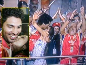 Celebs Public Kissing Moments Ipl That Caught Camera Eyes