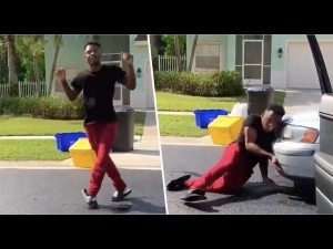 Guy Undertaking The Kiki Challenge Gets Hit By A Car