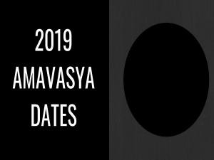 List Of Amavasya Dates On