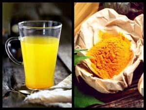 Daily Detox Drink Warm Lemon Water With Turmeric