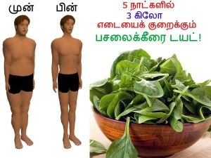 Get Rid Of 3 Kilograms In 5 Days With Spinach Diet