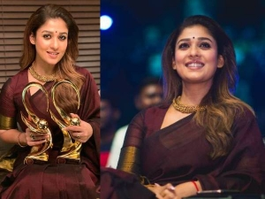 Nayanthara In A Handloom Saree At Zee Cine Awards Tamil