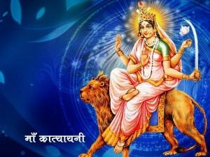 Navratri Day 6 Colour Today Mata Katyayani Mantra Puja And Significance