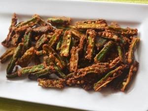 Crispy Okra Chips Recipe In Tamil