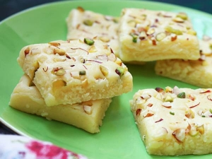 Diwali Special Milk Powder Burfi Recipe In Tamil