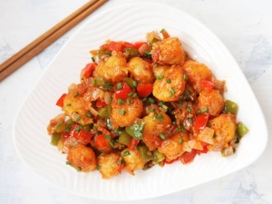Baby Potato Manchurian Recipe In Tamil