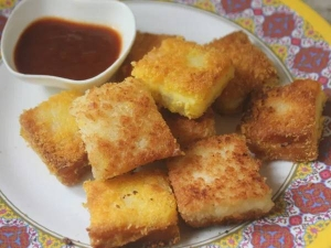Bread Cheese Bites Recipe In Tamil