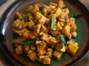 Andhra Style Yam Stir Fry Recipe In Tamil