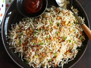 Garlic Chilli Fried Rice Recipe In Tamil