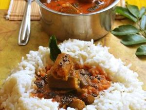 Mangalorean Style Bhindi Sambar Recipe In Tamil