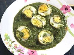 Hariyali Egg Gravy Recipe In Tamil
