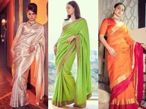 Kangana Ranaut Flaunts Silk Sarees For Thalaivii Promotions