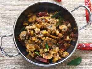 Pallipalayam Mushroom Fry Recipe In Tamil