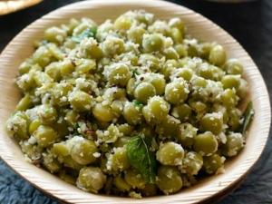 Navratri Special Green Peas Sundal Recipe In Tamil